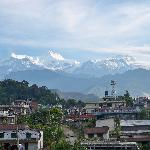 View of the Annapurna Range from Punhill Guest House in Pokhara