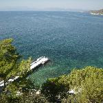 View of Aegean from Kismet hotel room