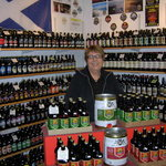Rita in the Scottish Real Ale Shop