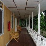 pasillos de las casitas-habitación