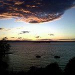 Champlain sunset view from our room