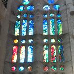Fine example of stained glass windows, Sagrada Família