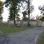 Cabins around the courtyard