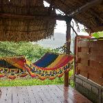 Each room has its own custom hammock