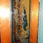 Glass doors between rooms