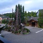 View from our Room, overlooking parking lot and Barking Frog Restaurant