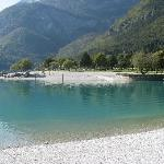 lago difronte all'hotel