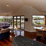 1 bedroom cottage View from Lounge to outside estuary/bush view