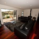 Our 3 Bedroom house's open plan lounge to outside Estuary /bush  views