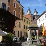 Wittenberg - im Hintergrund St. Marien, die Stadtkirche