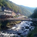 Lorna Doone House & bridge over River