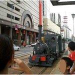 坊ちゃん列車(大街道駅で)