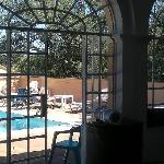 View from the pool house room