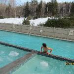 Outdoor pool  and hot tubs