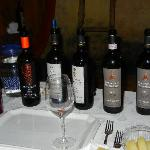 Sampling of wines (Brunello) from Collemattoni
