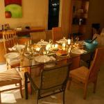 Dinner in the Villa