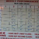 Schedule of performance.