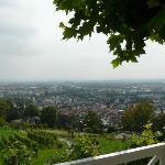 Blick von der Terrasse über Bad Nauheim