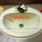 Broken sink drain