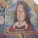 Mural showing hunger striker Bobby Sands
