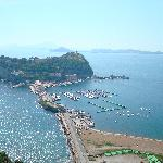 Nisida dal parco Virgiliano a Napoli