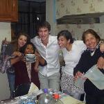 En famille avec d'autres amis français