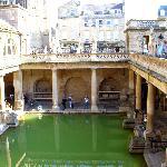 Roman Baths from balcony