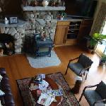 Overhead shot of living area