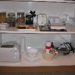 Some of the Kitchen Supplies in Large Apt Upstairs