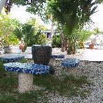 One of many places to relax at Club Arias