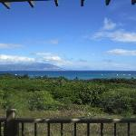 Cottage lanai - views of Maui and Lanai
