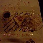My Birthday desert from the restuarant