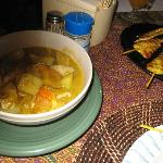 Yellow Curry with Pork plus Chicken Satay