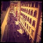via calzaiuoli view from our room