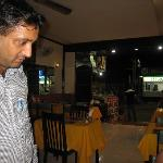 Front of Noori Restaurant and manager, Singh
