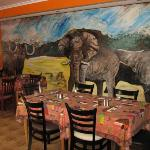 The dining room at Liziwe's