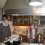 Mrs. and Mr. Kazuk perpare breakfast.