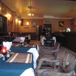 View towards the interior of the Kohinoor Restaurant