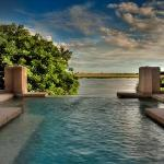The exclusive and private plunge pool of one of the suites (the same suite enjoyed by Elizabeth