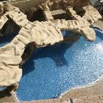 the Flintstones themed pool and spa - nice, though