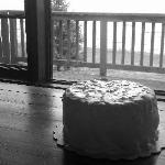 Surprise anniversary cake waiting in our cabin, thank you Bryan and Sue for helping coordinate!