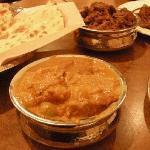 Lamb Mushrooms and Chicken Kashmir + Tandoori Roti