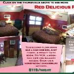Red Delicious Room-King Bed and Jetted Tub