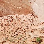 Defiance House Ruins- Forgotten Canyon. Petroglyphs on wall are same as in hotel restaurant.
