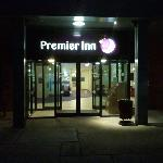 premier inn entrance at rear
