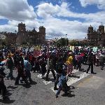 Protest at Plaza de Armas