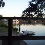 Lake next to cabin