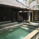 Own pool and hot spring bath
