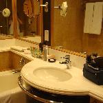 clean and roomy bathroom