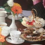Cake stand at afternoon tea